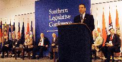 Mike Huckabee addressed the Southern Legislative Conference