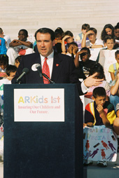 Governor Huckabee making the ARKids First program announcement