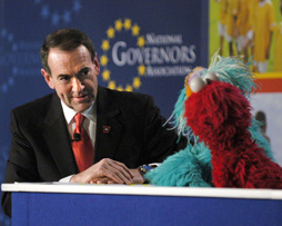 Huckabee and the Muppets at NGA